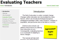 Screen Capture of MATHguide's Free Teacher Evaluation Tutorial