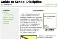 Screen Capture of MATHguide's Free Guide to School Discipline Tutorial